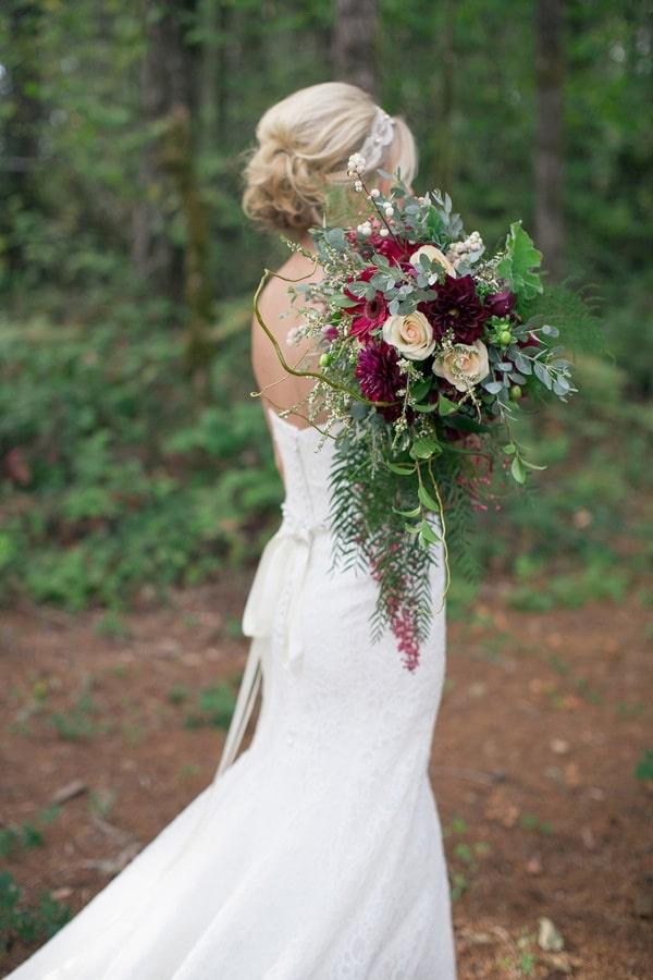 Jewel Toned Autumn Woodland Wedding Shoot Hey Wedding Lady
