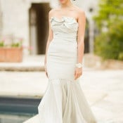 Carol Hannah Bridal Gown with an Architectural Bodice | Mike Larson Photography | A Romantic Tuscan Bridal Shoot