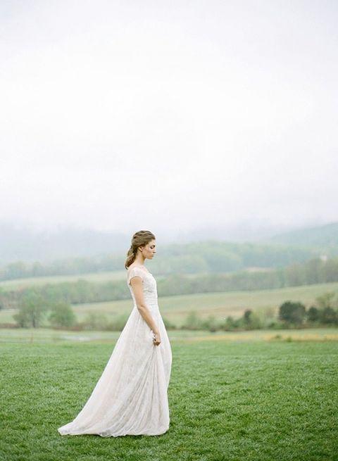 Graceful Mountain Bride | JoPhoto | Asheville Destination Wedding Inspiration in the Blue Ridge Mountains