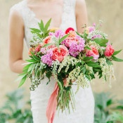 Lush Summer Bouquet in Coral