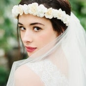 Natural Bridal Makeup with Berry Lips