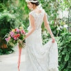 Graceful Classic Bride in a Botanical Garden | Stephanie Sunderland Photography | Vibrant Summer Greenhouse Wedding Portraits in Rich Jewel Tones