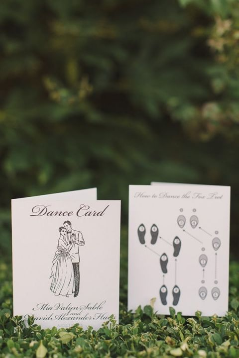 Vintage Inspired Dance Card