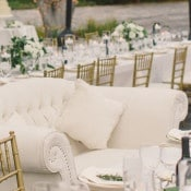 Vintage Ivory Love Seat at the Sweetheart Table