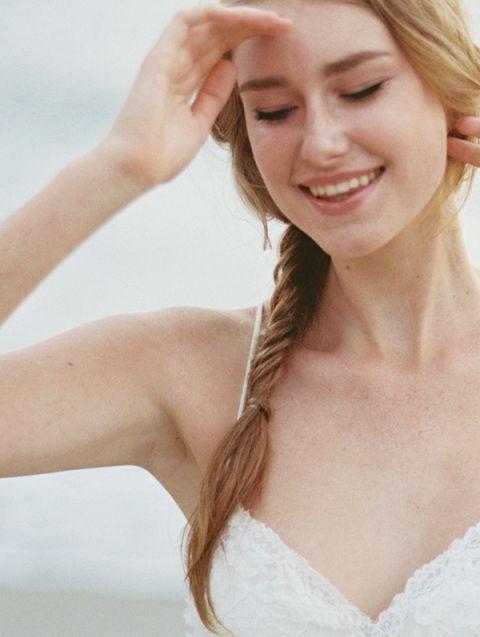 Natural Bridal Makeup with a Braid