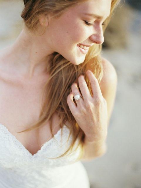 Romantic Pearl Engagement Ring