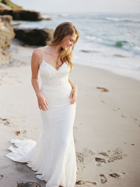 Barefoot Bride on the Beach