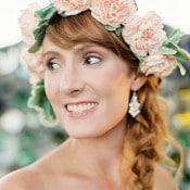 Blush Flower Crown and a Side Braid
