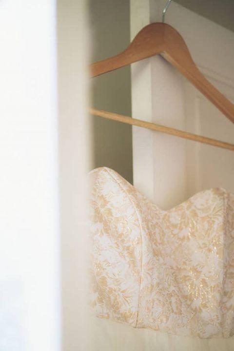 Shimmering Gold Wedding Dress | soundslikeyellowphotography