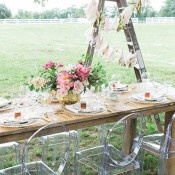 Coral and Gold Head Table | Ashley Slater Photography and Michaela Noelle Designs | Celebrating Creativity at the Bloom Workshop!