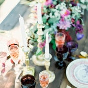 Peach and Plum Table Decor | Ashley Slater Photography and Michaela Noelle Designs | Celebrating Creativity at the Bloom Workshop!