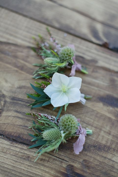 Hellebore Bouttoniere | Charla Storey Photography and Grit + Gold | Regal Hacienda Wedding Shoot in Rich Jewel Tones