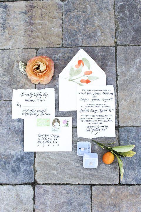 Hand Painted Kumquat Invitation | Sweet Summer Citrus from the Bloom Workshop!