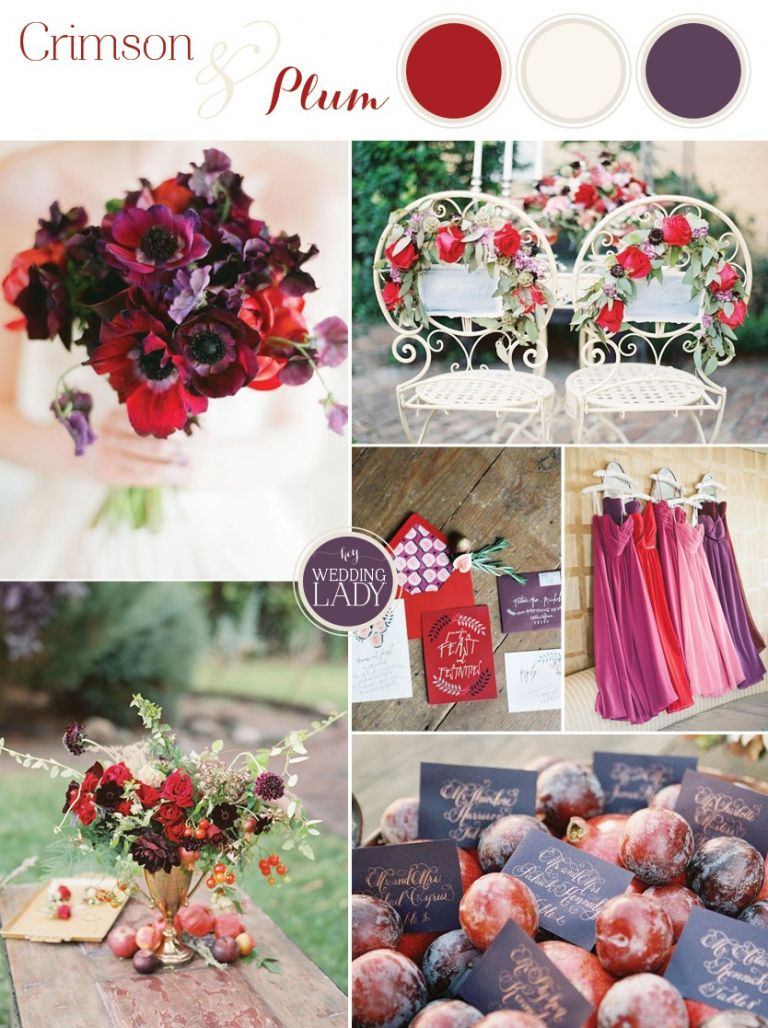 Crimson and Plum - A Vibrant and Unexpected Wedding Palette