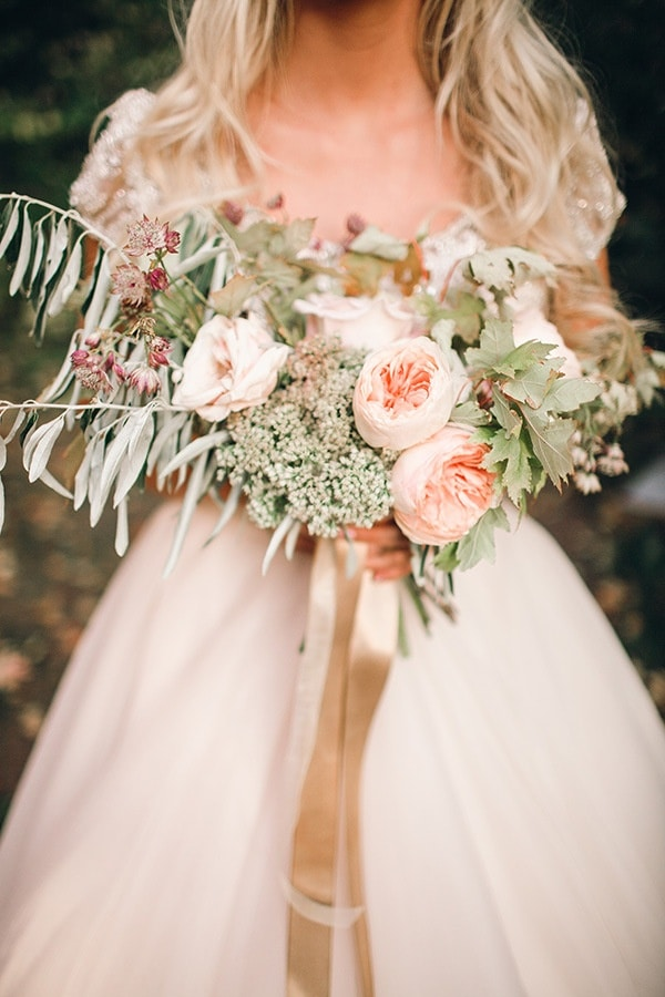 Blush And Rose Gold Woodland Wedding Shoot Hey Wedding Lady