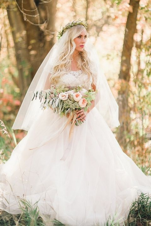 Ethereal Forest Bride in Blush