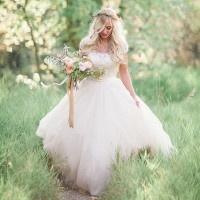 Blush and Rose Gold Woodland Wedding Shoot