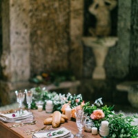 Italian Sweetheart Table with a Floral Garland | Maria Lamb Photography | Gracious Villa Wedding in the Heart of Tuscany