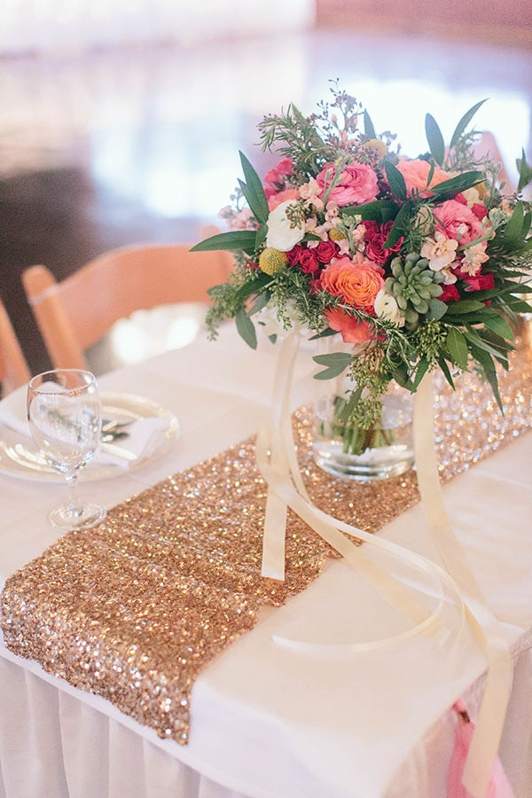 Pink And Gold Glittering Southern Wedding Hey Wedding Lady