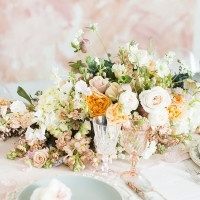 Soft Impressionist Floral Runner | Jessica Peterson Photography | Wedding Styling Spotlight on Michelle Leo Events