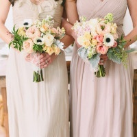 Taupe and Latte Bridesmaid Dresses with Pastel Bouquets | Jessica Peterson Photography | Wedding Styling Spotlight on Michelle Leo Events