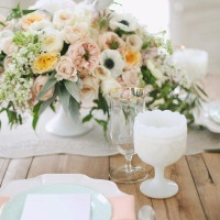 Vintage Milk Glass and Pastel Florals | Jessica Peterson Photography | Wedding Styling Spotlight on Michelle Leo Events