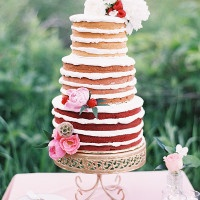 Ombre Naked Cake | Emily Jane Photography | Summer Berry Boho Wedding Shoot