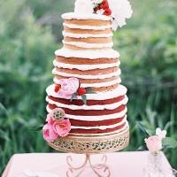 Ombre Naked Cake | Emily Jane Photography | Summer Berry Boho Wedding Shoot