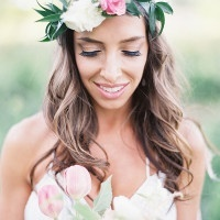 Romantic Natural Bohemian Bride | Emily Jane Photography | Summer Berry Boho Wedding Shoot