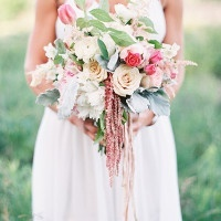 Sweet Blush Bouquet | Emily Jane Photography | Summer Berry Boho Wedding Shoot
