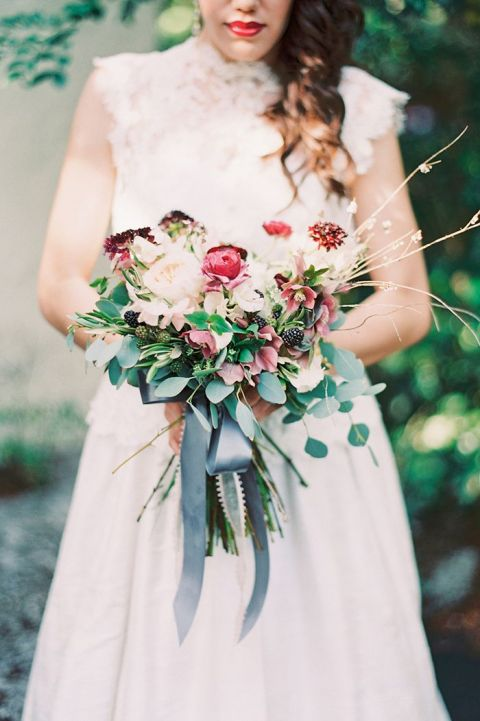 Slate Blue and Dusty Rose Wedding Ideas | Hey Wedding Lady