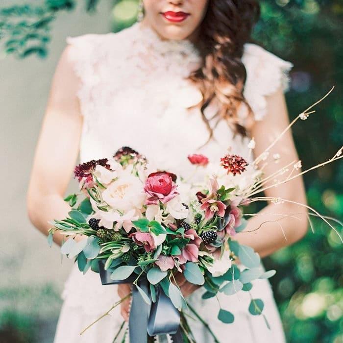8cac31df392f Slate Blue and Dusty Rose Wedding Ideas