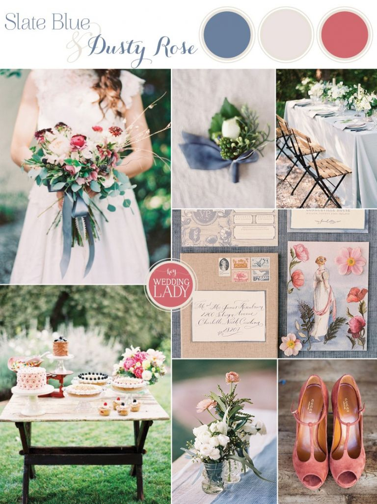 Slate Blue and Dusty Rose Wedding Ideas