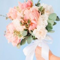 Pastel Blush and Ivory Bouquet | Pasha Belman Photography | Intimate Peony Pink Wedding in the South
