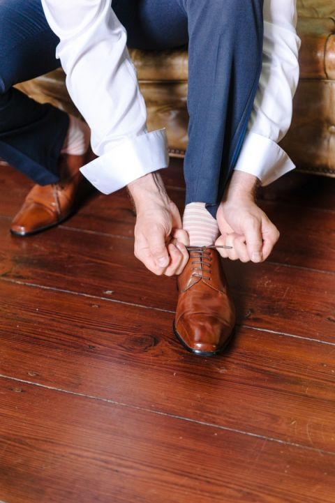 Handsome Preppy Groom Getting Ready   Pasha Belman Photography   Intimate Peony Pink Wedding in the South