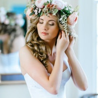 Lush Floral Crown for a Spring Bride | Pasha Belman Photography | Intimate Peony Pink Wedding in the South