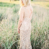 Gold Beaded Wedding Dress | Kristen Kilpatrick Photography | In the Golden Light of Summer Wedding