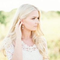 Floral Lace Wedding Dress | Kristen Kilpatrick Photography | In the Golden Light of Summer Wedding