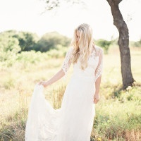 Ethereal Lace Wedding Dress | Kristen Kilpatrick Photography | In the Golden Light of Summer Wedding