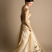 Glittering Gold Wedding Dress | Elizabeth Nord Photography
