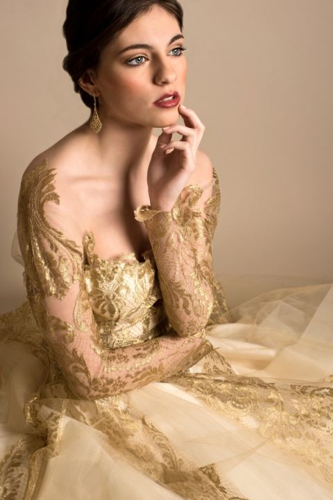 White And Red Wedding Gown 40 Best Ethereal Gold Wedding Dress