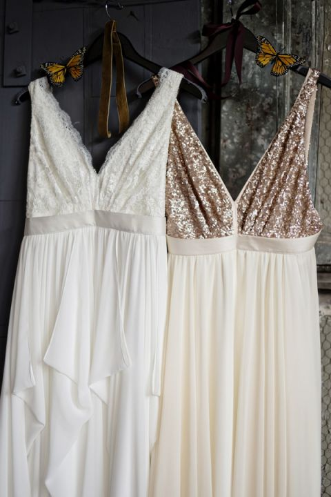 Sequin and Lace Wedding Dresses | Andie Freeman Photography