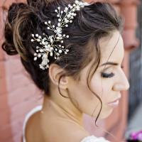 Pearl Spray Bridal Headpiece | Andie Freeman Photography