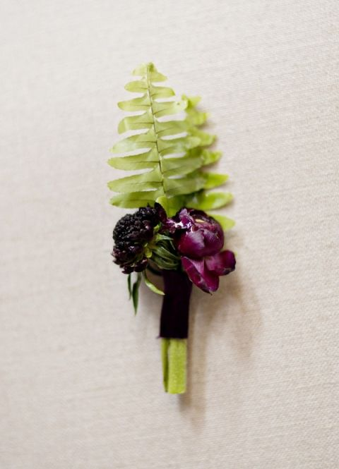 Fern Boutonniere | Andie Freeman Photography