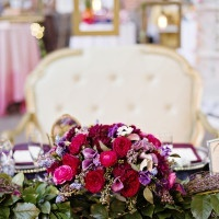 Luxe Purple Head Table | Andie Freeman Photography