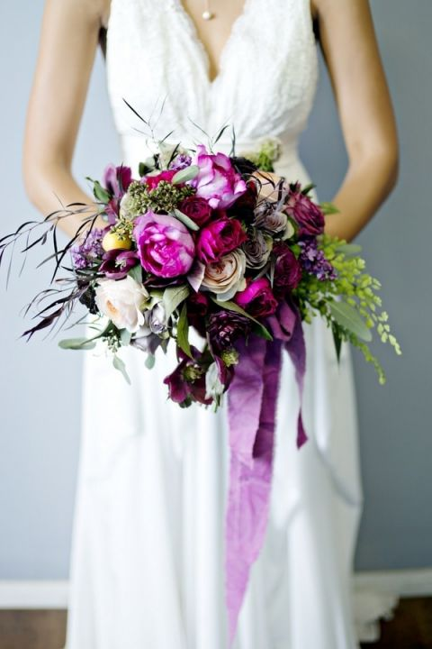Rich Purple Bouquet | Andie Freeman Photography