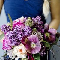 Vibrant Purple and Blue Bouquet | Andie Freeman Photography