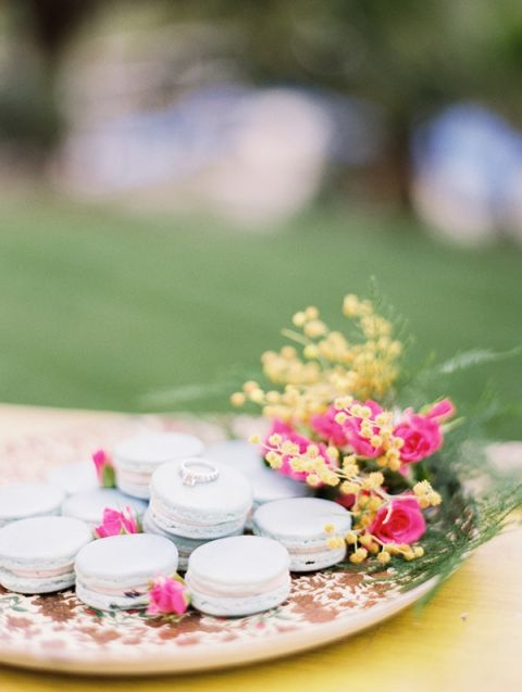 French Macarons and an Engagement Ring | Audrey Norman Fine Art Wedding Photography