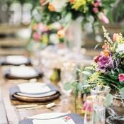 Coastal Place Settings | Audrey Norman Fine Art Wedding Photography