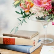 Vintage Books and Summer Flowers | Audrey Norman Fine Art Wedding Photography